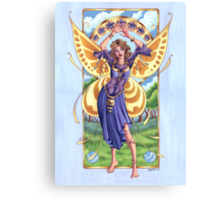 Art Nouveau Summer Time Fairy  Canvas Print