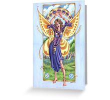 Art Nouveau Summer Time Fairy  Greeting Card