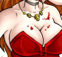 Vampire Chic White Sticker