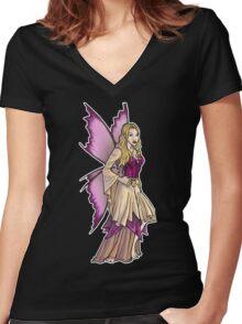 Fantasy Fairy  Women's Fitted V-Neck T-Shirt