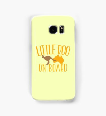 Little roo on Board (Australian pregnancy meternity design) Samsung Galaxy Case/Skin