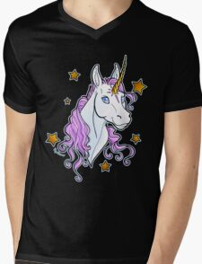 Unicorn Star Shirt Mens V-Neck T-Shirt