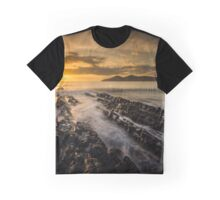 One Mile Beach sunrise at Forster-Tuncurry Graphic T-Shirt