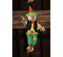 Lil' Scarecrow ~ Hanging in a Barn Photographic Print