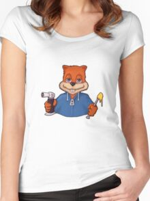 Squirrel Dab (No Text) Women's Fitted Scoop T-Shirt