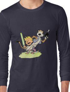 Calvin and Hobbes Star Wars Long Sleeve T-Shirt