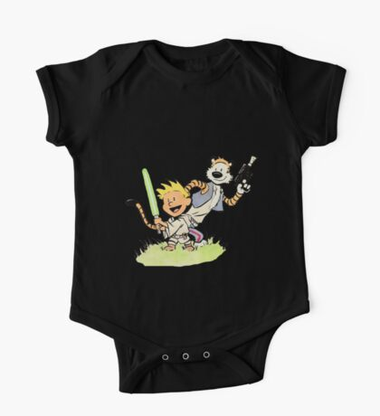 Calvin and Hobbes Star Wars One Piece - Short Sleeve