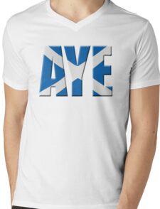 Scottish flag Vote Aye Mens V-Neck T-Shirt