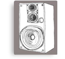Classic 80s Analog Stereo Speaker  Canvas Print