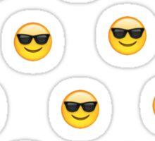 Sunglasses emoji pattern Sticker
