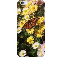Monarch Butterfly and Flowers iPhone Case/Skin
