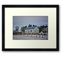 Quilted Mitchell Barn Framed Print