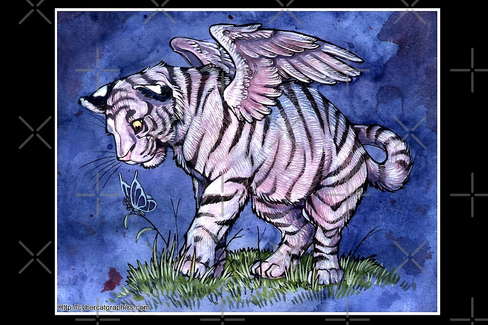 Winged Tiger Cub by cybercat