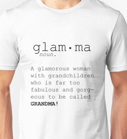 Grandma Definition,Gift for Nana, Gift for Grandma, Grandma's Birthday Gift,Burlap Print,Personalized Gift for Grandma Unisex T-Shirt