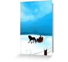 Winter Sleigh Ride Card Greeting Card