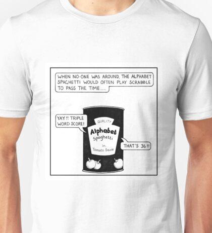 Alphabet Spaghetti Unisex T-Shirt