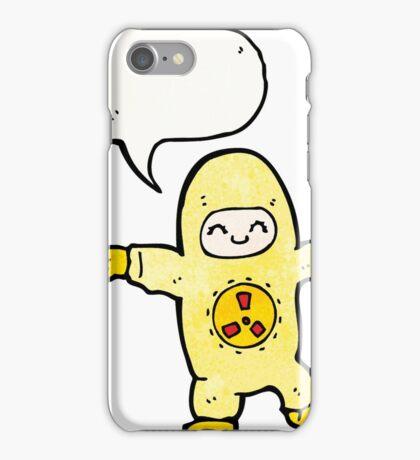 man in radiation suit cartoon iPhone Case/Skin