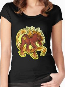 Arson Pony  Women's Fitted Scoop T-Shirt