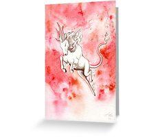 Elemental Fire Qilin Greeting Card