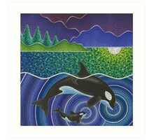 Orca Sonic Love Art Print