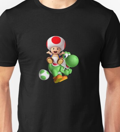 Toad with Yoshi Unisex T-Shirt