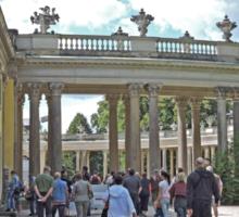 Colonnade, San Souci Palace, Potsdam, Germany Sticker