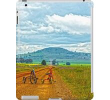 Two Tiny Tricycles...Country Riders. iPad Case/Skin