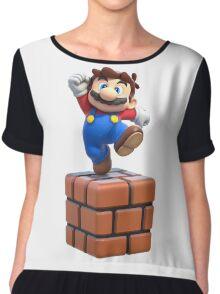 Mario on Block Chiffon Top