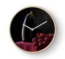 Aubergine and Grapes Clock