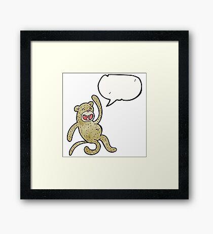 crazy cartoon monkey Framed Print