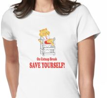 Save Yourself (Beige) Womens Fitted T-Shirt