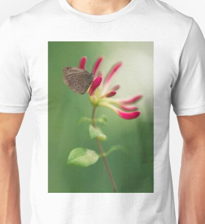 Resting on the pink plant Unisex T-Shirt