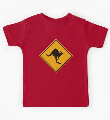 Road sign - Kangaroos ahead Kids Tee