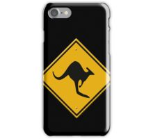 Road sign - Kangaroos ahead iPhone Case/Skin
