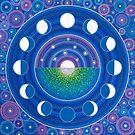 Moon Phase Mandala by Elspeth McLean