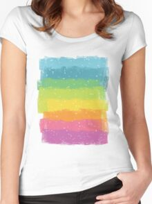 Rainbow chalk Women's Fitted Scoop T-Shirt