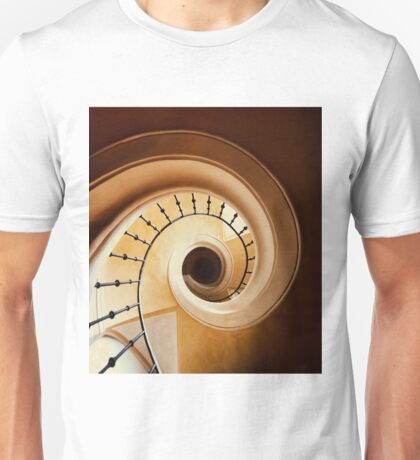 Spiral stairs in brown tones Unisex T-Shirt