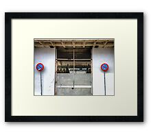 Twin Signs Framed Print