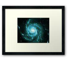 Pinwheel Galaxy [Blue Version] | Sacred Geometry Pattern Framed Print