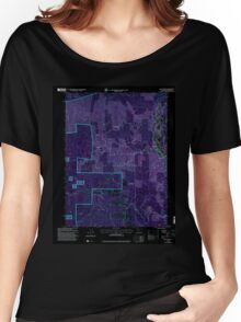 USGS TOPO Map California CA Willow Creek 102563 1997 24000 geo Inverted Women's Relaxed Fit T-Shirt