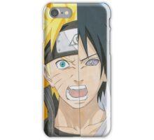 Naruto & Sasuke face iPhone Case/Skin