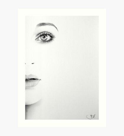 Kate Bush Half Series Minimal Portrait Art Print