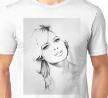 Brigitte Bardot Minimal Portrait Unisex T-Shirt