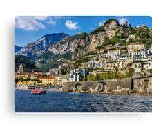 view of beautiful Amalfi Canvas Print