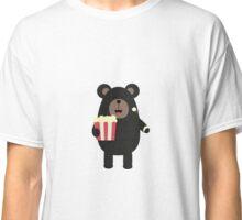 Black bear eating Popcorn Classic T-Shirt