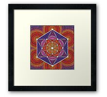 Fire Star- Genesis Pattern Framed Print