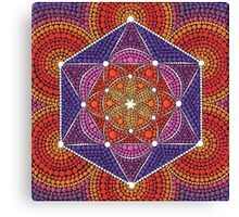 Fire Star- Genesis Pattern Canvas Print