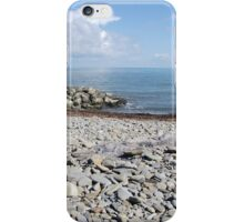 Sea View from Aberaeron, Wales iPhone Case/Skin