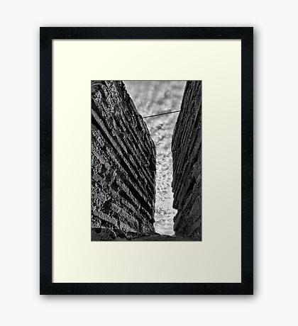 Charles III Fort Wall Rampart - Cartagena Spain Framed Print