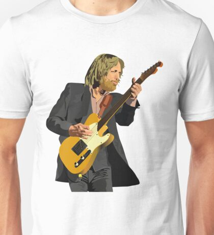 Tom Petty Rock 'N' Roll pose with Fender telecaster guitar (Tom Petty and The Heartbreakers) Unisex T-Shirt